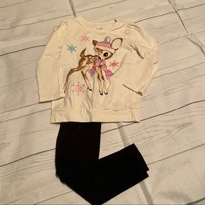Healthtex/Carter's Girl's 4T Winter Deer Outfit